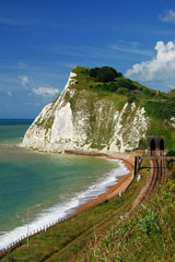 white cliffs along the English Channel, Dover, England