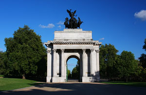 Wellington Arch in Hyde Park, London, England
